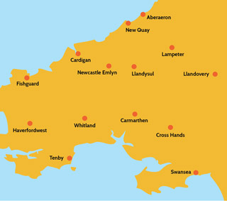 Local locksmith Carmarthen, Swansea, Haverfordwest, Pembroke, Newcastle Emlyn & other areas covered