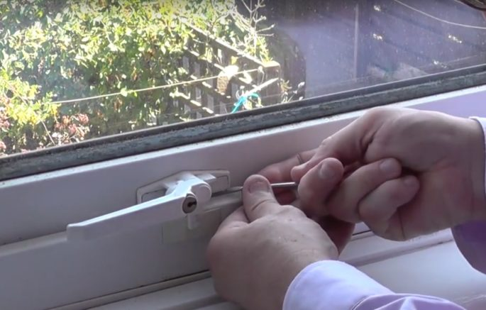 Repairing a uPVC window
